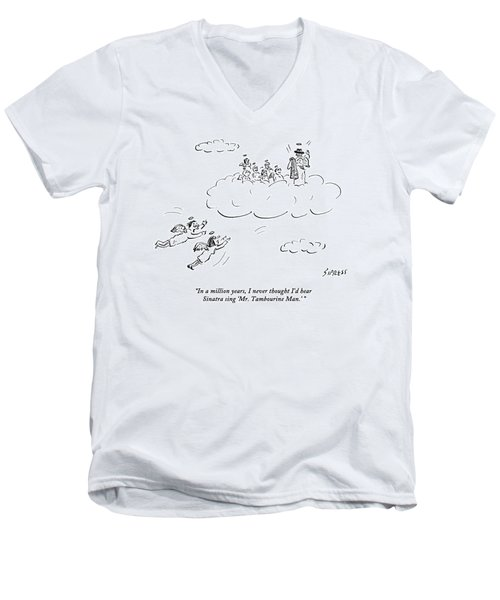 Two Angels Speak As They Look At Frank Sinatra Men's V-Neck T-Shirt