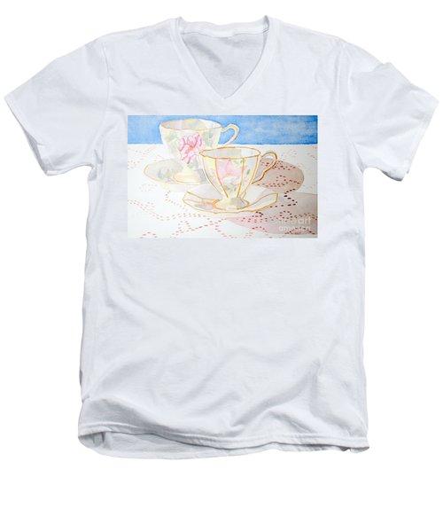 Two For Tea Men's V-Neck T-Shirt