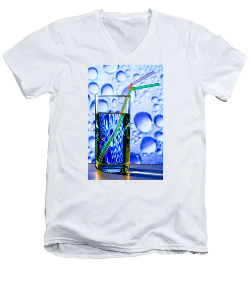 Two In Bubbles Men's V-Neck T-Shirt by Edgar Laureano