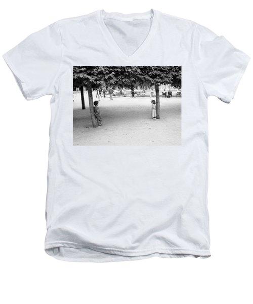 Two Kids In Paris Men's V-Neck T-Shirt