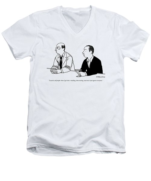 Two Men Are Seen Speaking With Each Other Men's V-Neck T-Shirt