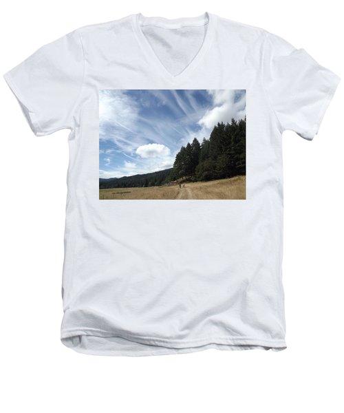 Two Of A Kind Men's V-Neck T-Shirt by Richard Faulkner