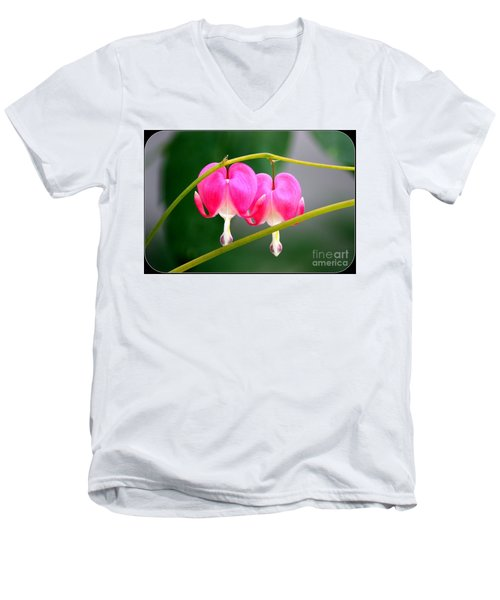 Men's V-Neck T-Shirt featuring the photograph Two Of Hearts by Patti Whitten