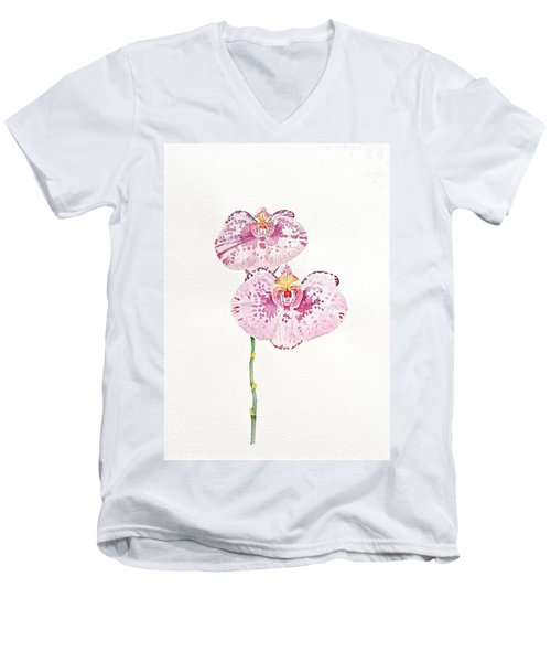 Two Orchids Men's V-Neck T-Shirt by Michele Myers