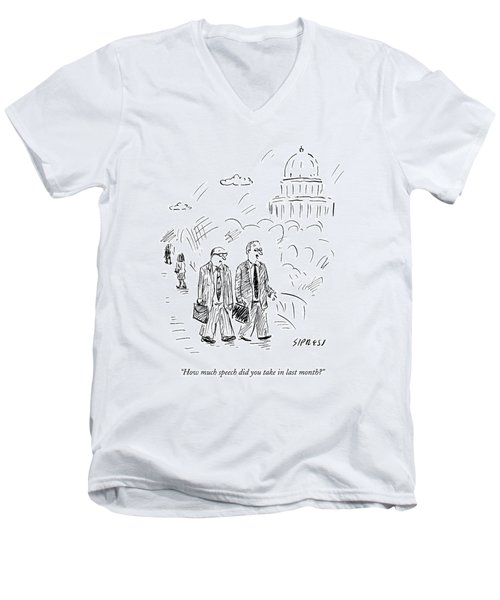 Two Politicians Speak To Each Other. The Capitol Men's V-Neck T-Shirt