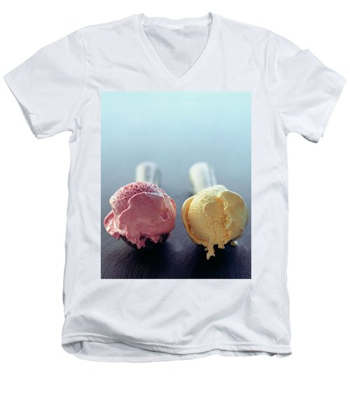 Two Scoops Of Ice Cream Men's V-Neck T-Shirt
