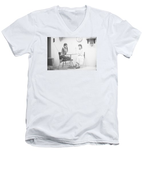 Men's V-Neck T-Shirt featuring the photograph Two Sisters Project 12 by Steven Macanka