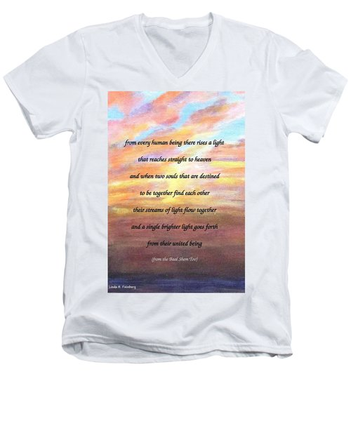 Two Souls Destined To Be Together Men's V-Neck T-Shirt