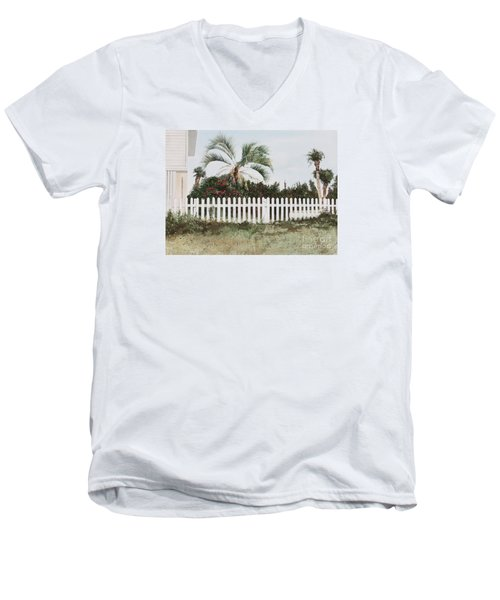 Tybee Island Roses Men's V-Neck T-Shirt