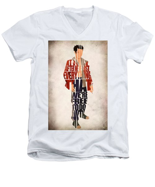 Tyler Durden Men's V-Neck T-Shirt