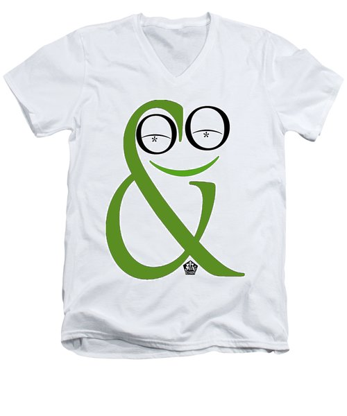 Typographical Frog Men's V-Neck T-Shirt