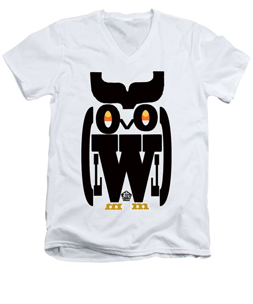 Typoowl Men's V-Neck T-Shirt by Seth Weaver