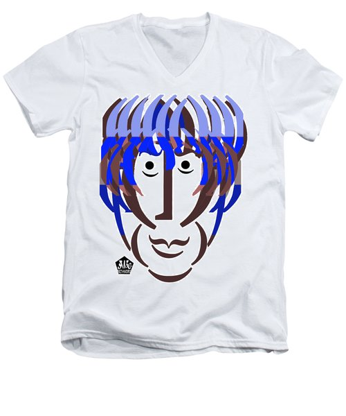 Typortraiture George Harrison Men's V-Neck T-Shirt