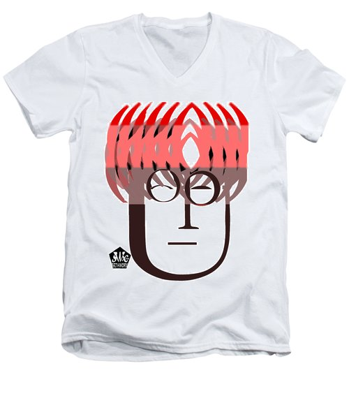 Typortraiture John Lennon Men's V-Neck T-Shirt
