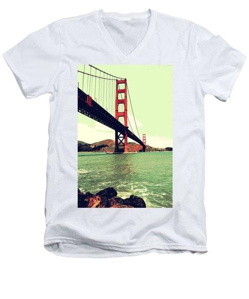 Under The Golden Gate Men's V-Neck T-Shirt