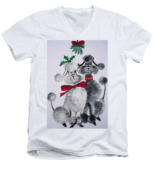 Under The Mistletoe Men's V-Neck T-Shirt