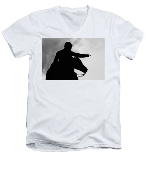 Union Silhouette  Men's V-Neck T-Shirt
