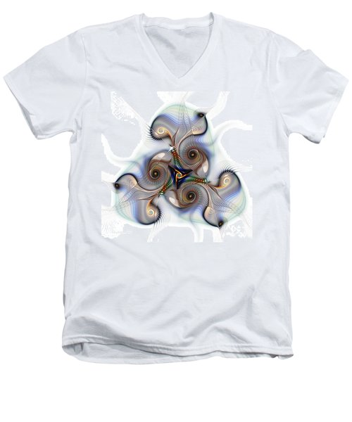 Unison Fractal Art Men's V-Neck T-Shirt