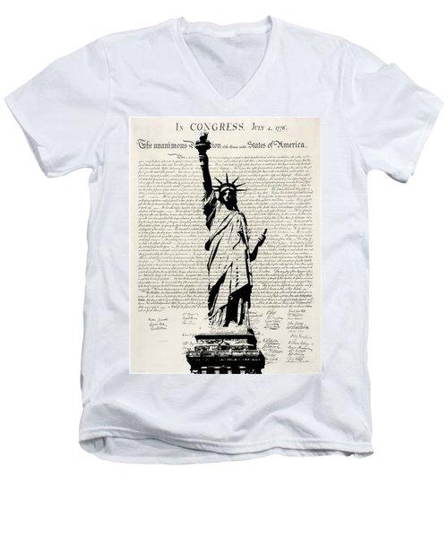 United We Stand Men's V-Neck T-Shirt
