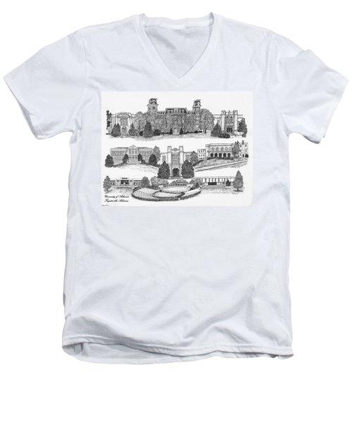 University Of Arkansas Fayetteville Men's V-Neck T-Shirt by Liz  Bryant