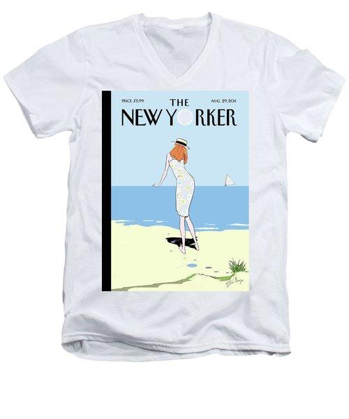 New Yorker August 29th, 2011 Men's V-Neck T-Shirt