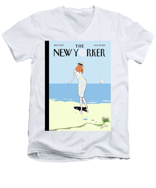 New Yorker August 29th, 2011 Men's V-Neck T-Shirt