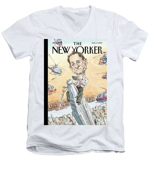 New Yorker August 5th, 2013 Men's V-Neck T-Shirt