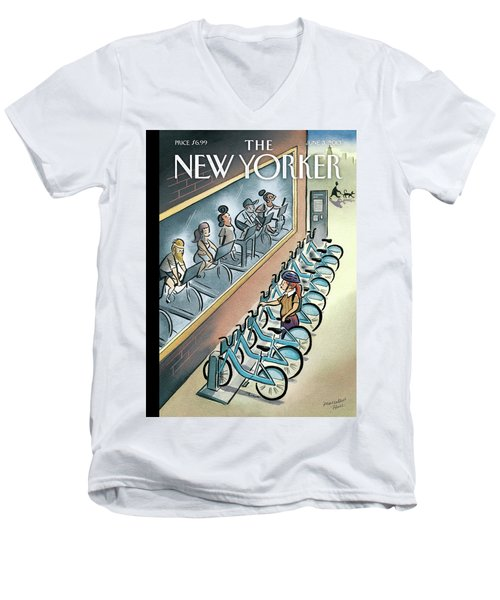 New Yorker June 3, 2013 Men's V-Neck T-Shirt
