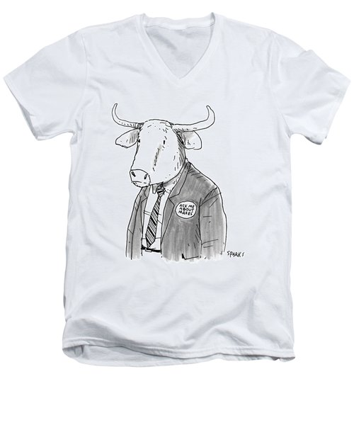 New Yorker October 24th, 2016 Men's V-Neck T-Shirt by Rich Sparks