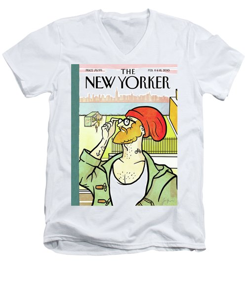 Brooklyn's Eustace Men's V-Neck T-Shirt