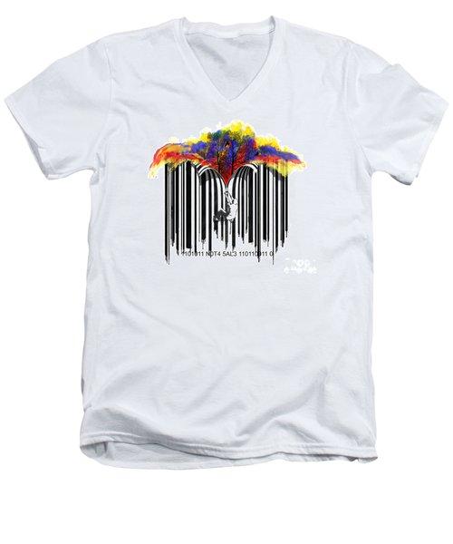 Unzip The Colour Code Men's V-Neck T-Shirt