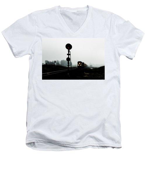 Up 8057 Men's V-Neck T-Shirt by Jim Thompson