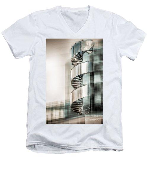 Urban Drill - Cyan Men's V-Neck T-Shirt