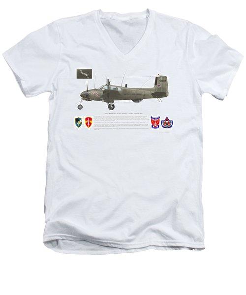 U.s. Army Ru-8d 138th Men's V-Neck T-Shirt