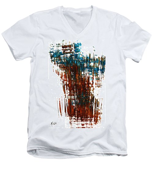Men's V-Neck T-Shirt featuring the painting Us In The Divine 264.111011 by Kris Haas