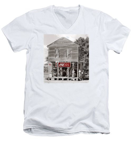 U.s. Post Office General Store Coca-cola Signs Sprott  Alabama Walker Evans Photo C.1935-2014. Men's V-Neck T-Shirt by David Lee Guss