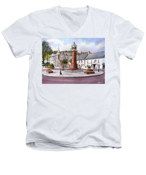 Usk In Bloom Men's V-Neck T-Shirt