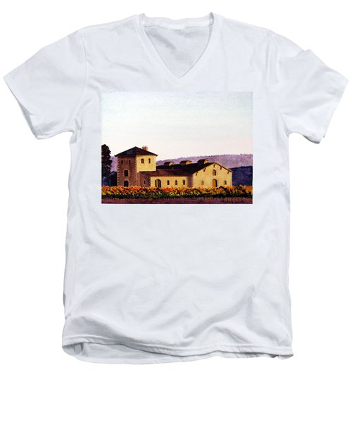 V. Sattui Winery Men's V-Neck T-Shirt by Mike Robles