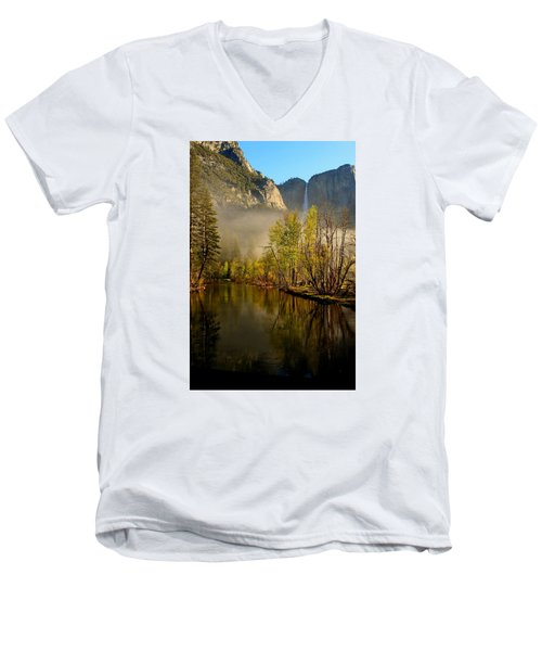 Vanishing Mist Men's V-Neck T-Shirt by Duncan Selby