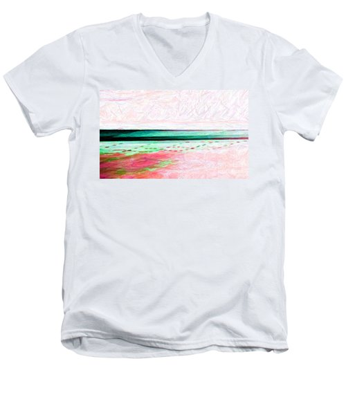 Men's V-Neck T-Shirt featuring the photograph Variations On An Abstract Theme by Chris Anderson