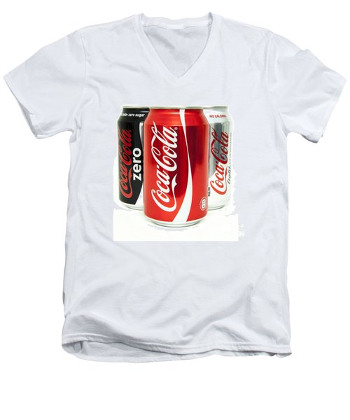 Various Coke Cola Cans Men's V-Neck T-Shirt