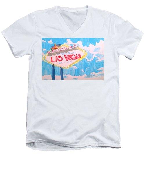 Vegas Men's V-Neck T-Shirt
