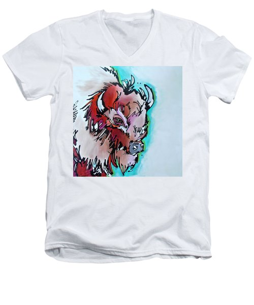 Velvet Stud Men's V-Neck T-Shirt by Nicole Gaitan