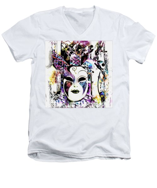 Venetian Mask Men's V-Neck T-Shirt