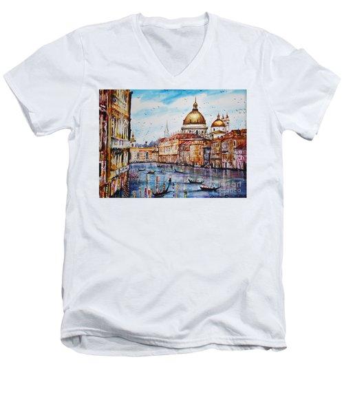 Venetian Paradise Men's V-Neck T-Shirt