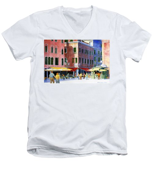 Venetian Piazza Men's V-Neck T-Shirt