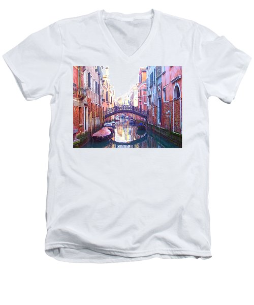 Venetian Reflections Men's V-Neck T-Shirt