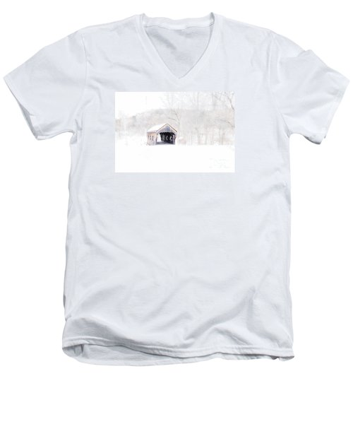Vermont Covered Bridge Men's V-Neck T-Shirt