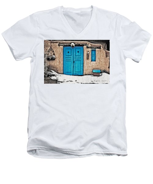 Very Blue Door Men's V-Neck T-Shirt