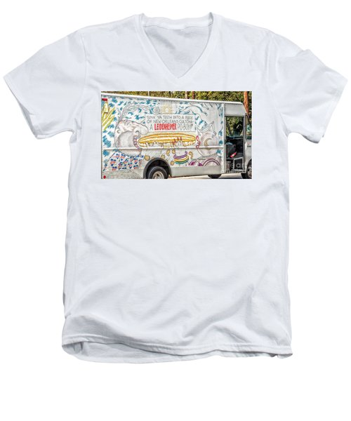 Vic And Nat'ly And The Leidenheimer Po-boy Truck - New Orleans Men's V-Neck T-Shirt by Kathleen K Parker
